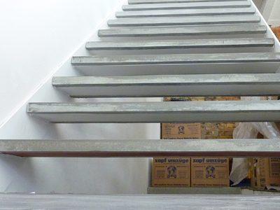 Beton-Treppenstufen